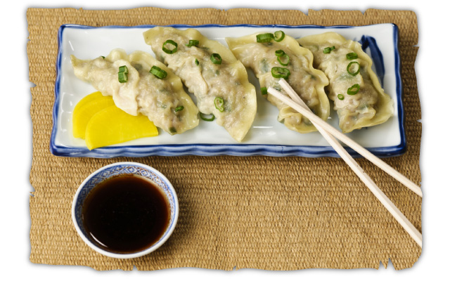 dumplings chopsticks